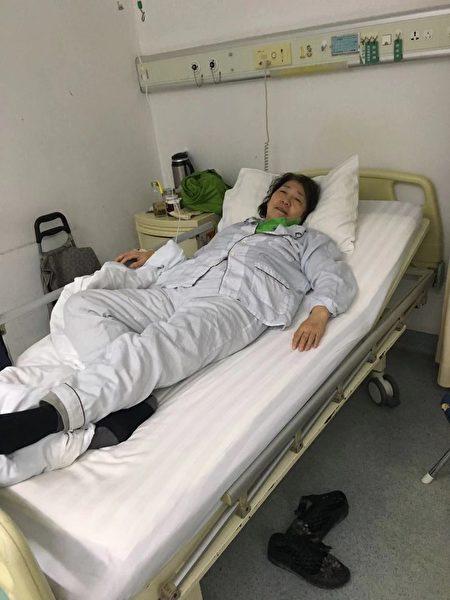 在北京307医院接受治疗的国俪堃。(受访者提供)
