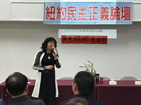 林映君表示,貿易戰開始後,從中國進口的建材價格上漲。