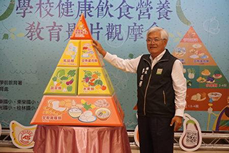 """县长李进勇表示,民以食为天,怎样""""吃得营养""""、""""吃得健康""""要从小教育起!"""