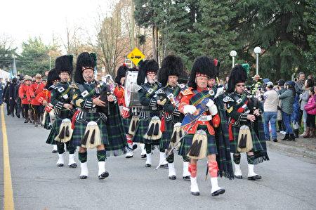 荣军纪念日的苏格兰风笛