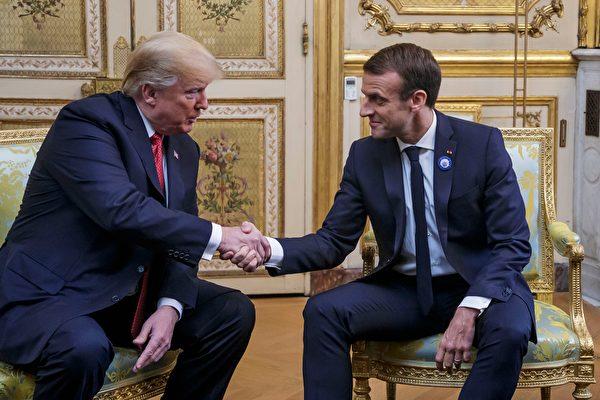 與馬克龍會談 川普:希望歐洲變得強大