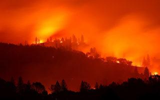 组图:加州野火蔓延 死亡人数增至25人