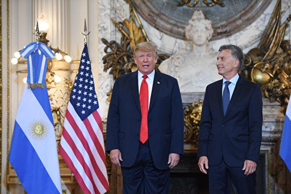 阿根廷總統會晤川普 感謝美國給予巨大支持