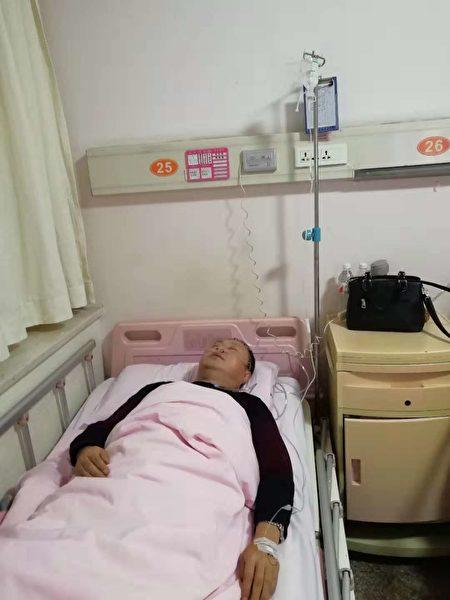 2018年11月11日,魚化寨村趙姓村民在進村時被黑保安攔下來,暴打他至顱腦損傷、旋暈、耳鳴。(受害人提供)