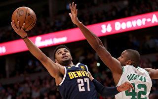 NBA莫瑞大砍48分 掘金砸伤绿衫军