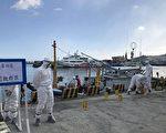 图为示意图,海巡署逼真演练,以期防猪瘟入台。