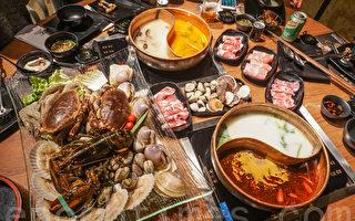 一次过享用海鲜火锅及自助餐