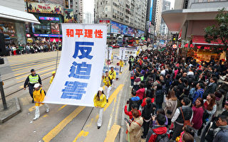 组团:人权日 海外法轮功学员反中共迫害