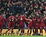英超联赛第17轮,利物浦在主场3:1完胜曼联