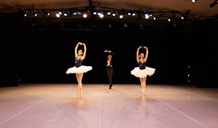 飞天大学中城分校近日在曼哈顿举办了冬季舞蹈音乐演出,图为芭蕾舞表演。
