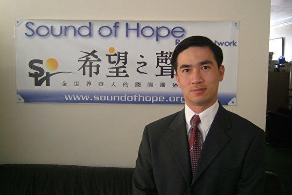 近日,一名在泰国的台商蒋永新,因代租希望之声短波广播发射台办公室,遭到受中共压力的当地警方拘捕。图为希望之声负责人曾勇。(希望之声提供)