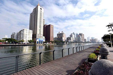 今日爱河美丽景观。