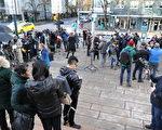 华为CFO孟晚舟在加拿大被捕,其保释听证会,吸引了众多媒体。(童宇/大纪元)