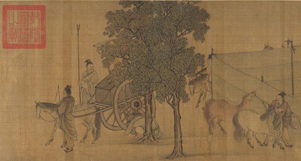 李唐《晉文公復國圖》