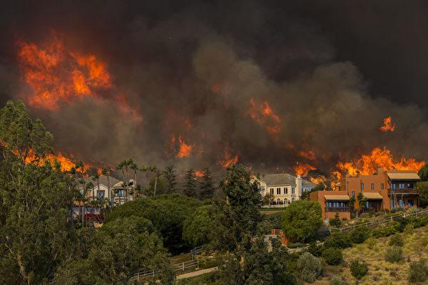加州大火,殃及好萊塢明星的豪宅的