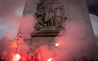 组图:法国黄背心运动蔓延 50年最大暴乱