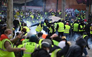 组图:黄背心运动激化 巴黎警戒 554人被捕
