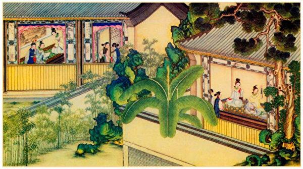 清孙温绘《全本红楼梦》第64回插图。(公有领域)