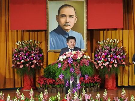 卫生福利部长陈时中(如图)在嘉义县第18届县长宣誓就职典礼中致词。
