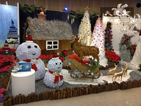 「聖誕嘉年華設計大賽」展出的作品,呈現出耶誕的歡樂氛圍。