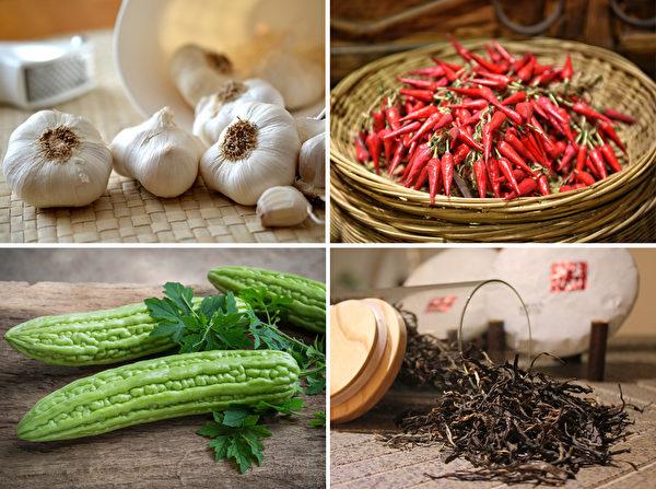 常見的天然防腐食物有大蒜、辣椒、苦瓜、茶葉等等。