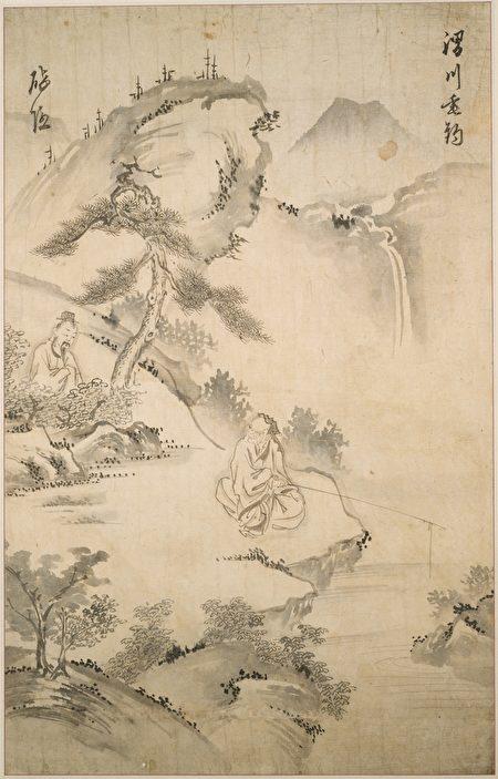 周文王渭水边遇姜太公,出古代朝鲜绘画,哈佛大学佛格美术馆藏。(公有领域)