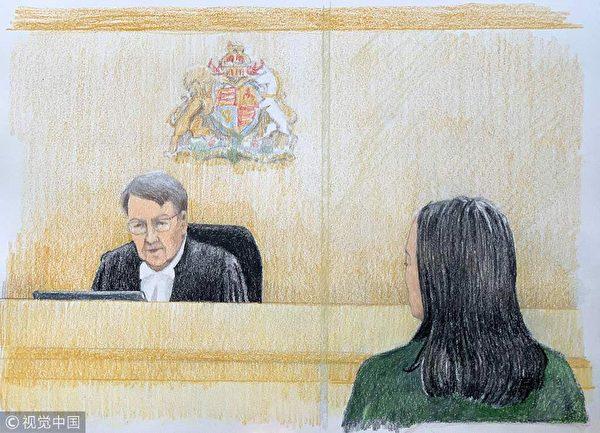 孟晚舟(右)在保釋聽證會上。圍繞孟晚舟案,溫哥華華人律師撰文,希望華人朋友從中得到一些啟示。