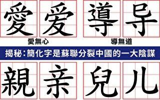 中共简化汉字 变异传统文化