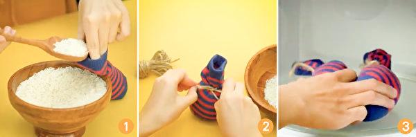 自己用大米和袜子就能做一个实用的天然暖暖包。