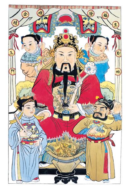 中國神話 財神 門神