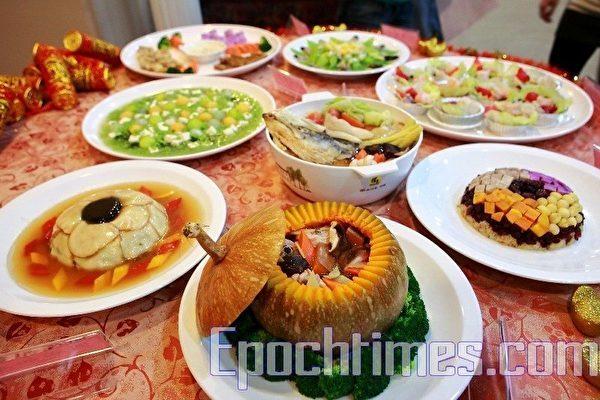 中國新年的重頭戲,年夜飯。(攝影:宋碧龍/大紀元)