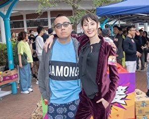 導演彭浩翔(左)靠一頓飯,讓梁洛施(右)點頭合作新電影《恭喜八婆》。