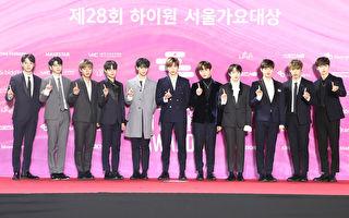 韓國人氣男團Wanna One出席第28屆首爾歌謠大賞資料照。(Chung Sung-Jun/Getty Images)