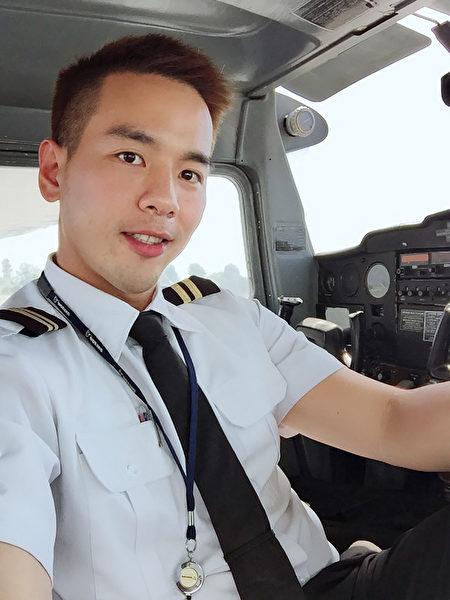 飞上洛杉矶天空追梦 台湾空少型男写飞行日记