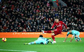 利物浦主场大胜阿森纳 七分优势领跑英超