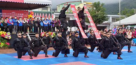 吉安鄉迎接108年元旦花蓮憲兵隊的精彩演出。