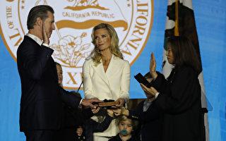 紐森宣誓就職加州第40任州長