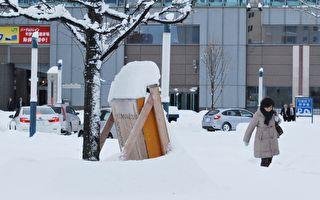 北海道大雪 105个航班停飞 2千人受困机场