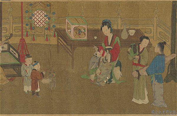 周昉 中國畫 孩童