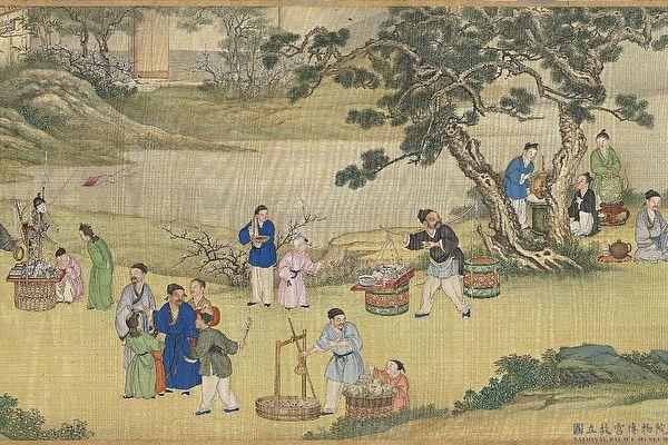 中国画 太平春市图