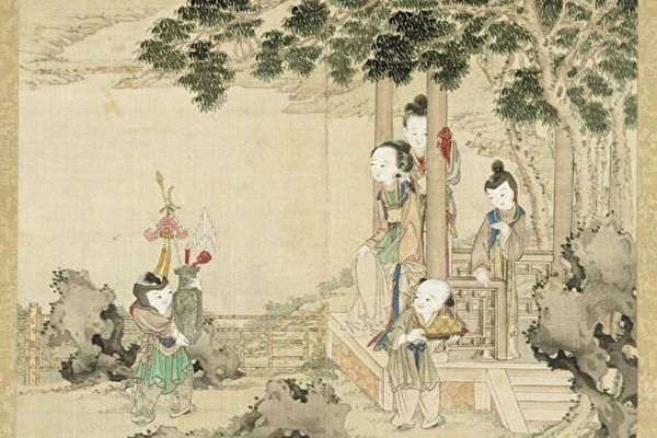 中國畫 戲童