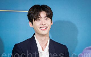 韓國人氣男星李鍾碩出席記者會資料照。(陳柏州/大紀元)