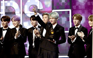 防彈少年團(BTS)出席第61屆葛萊美獎頒獎典禮。(Kevork Djansezian/Getty Images)