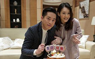 韓宜邦(左)知道李又汝(右)平常很節儉,收到她送的雞精,直呼感動