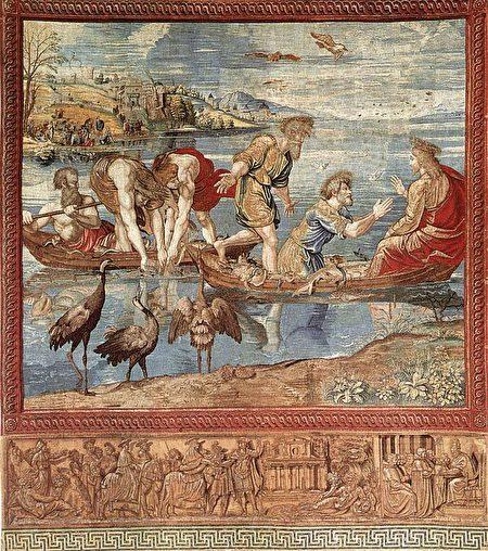拉斐尔,《撒网捕鱼的神迹