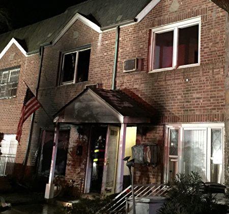 发生二级大火的房子。