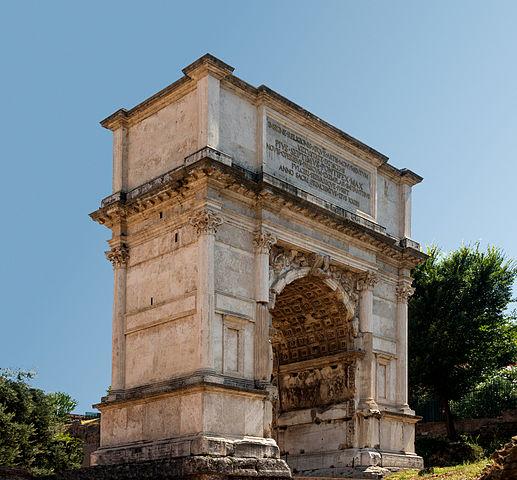 義大利羅馬「提圖斯凱旋門」(Arch of Titus)。(Jebulon,攝於2013年8月22日/維基公有領域)https://commons.wikimedia.org/wiki/File:Arch_Titus,_Forum_Romanum,_Rome,_Italy.jpg