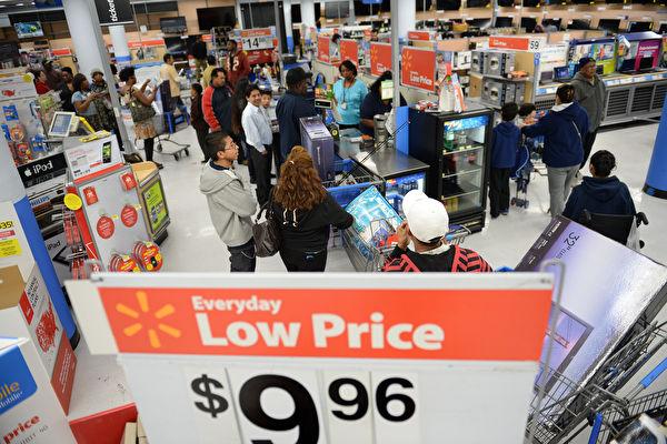 网络上,中国人一直羡慕美国的物价。 (AFP)