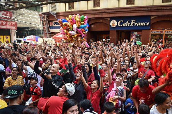 2月5日,菲律宾马尼拉中国城。(TED ALJIBE/AFP/Getty Images)