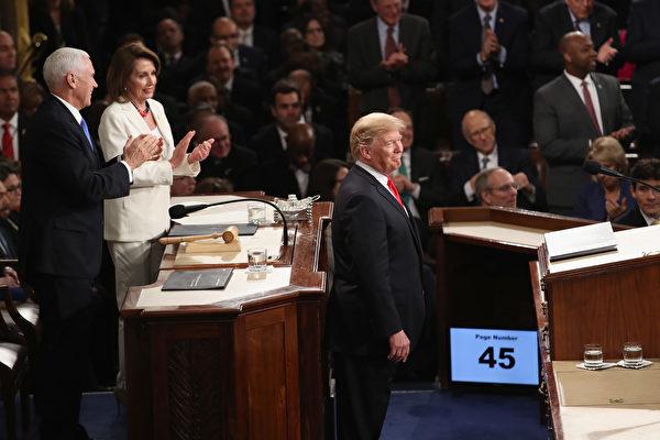 美国总统川普5日发表国情咨文演说。